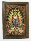 Buddha meditující v lotosovém květu, 1923, Karel Brandejs. Sbírka OM.