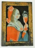 Sv. Barbora, mučednice z 3. století byla podle legendy uvězněna svým otcem ve věži, přesto se dala pokřtít, a tak jí její pohanský otec obžaloval. Sv. Barboře se podařilo utéci ke skále, která se před ní otevřela a ukryla ji. Byla v�