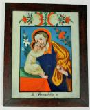 Sv. Josef Pěstoun, bývá zobrazován s malým Ježíškem v náručí a lilií. Jeho atributy jsou tesařské nářadí a rozkvetlá hůl. Orlické hory a Kladsko - Kaiserswalde (Lasówka), ¾ 19. století, sbírka OM.