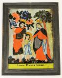 Svatá rodina, Josef s Marií vedou malého Ježíše za ruce, Josef nese na rameni tesařskou sekeru, Marie si rukou přidržuje roucho. Jihočesko-rakouská provenience?, polovina 19. století, sbírka OM.